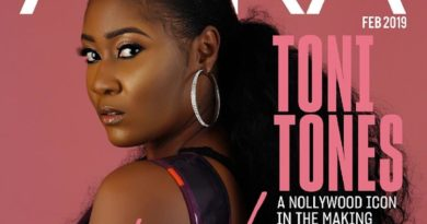 Toni Tones Sizzles on the Cover of Aura Magazine
