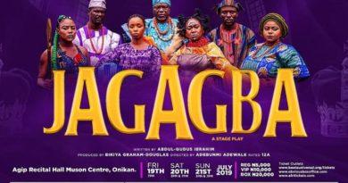 "Award-winning Actress and Producer Bikiya Graham-Douglas's Beeta Universal Arts Foundation (BUAF) presents its award-winning play ""Jagagba"""