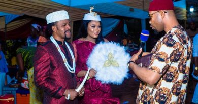 Anambra Governor, Churchill, Johnbosco, Don Okonkwo,Canadian Philanthropist, Rosaline Meurer Attend Alexreports Wedding