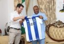 Udom Emmanuel hosts FC Porto Officials, Ojo Paul Omamomo and others on establishment of Sports Academy in Akwa Ibom