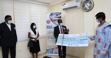 SDA Church Donates GHC100,000 To COVID -19 Trust Fund