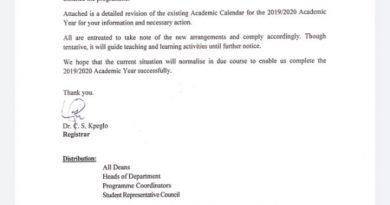 UHAS Online Academic Work Begins Monday 27th April