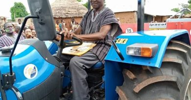 Bawumia Surprises His Primary School Teacher With A Tractor