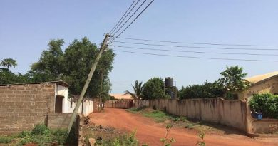 Danger Looms At Frafraha As ECG Neglects Falling Electricity Pole For The Past 6months