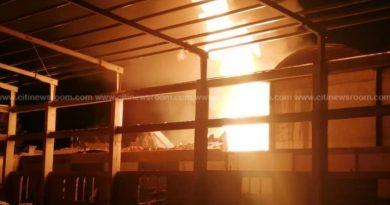Fire Destroys Foam Manufacturing Company In Kumasi