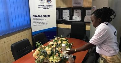 GRASAG-UENR Commisions Office, Honours Former Officers