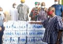 West Gonja Hospital Receives Bottled Water From Regional Minister