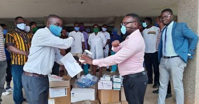 COVID-19: Dominase SDA Hospital Staff Contribute To Buy PPE Worth Ghc10,000
