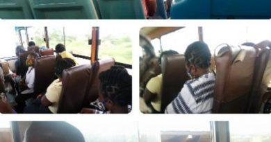 Kufuor Buses Throw Away Social Distancing