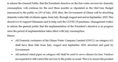 Additional 3months Free Water Supply Begins With July Consumption – GWCL