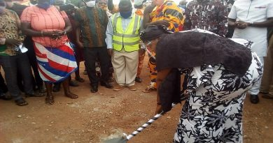 Bono Regional Minster Cuts Sod For Development Of Berekum Market