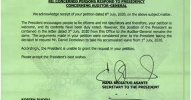Domelevo Won't Be Recalled – Presidency To Petitioners