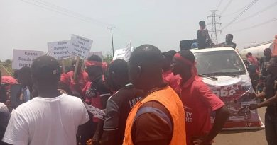Drivers In Kpone, Tema And Ashaiman Protest Over Bad Roads