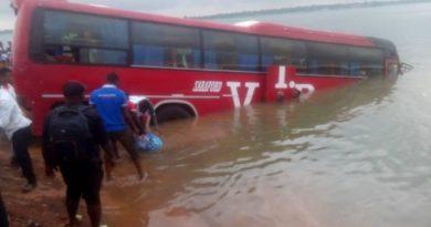 How VIP Transport Bus Entered River Oti