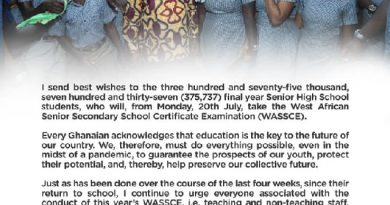 WASSCE 2020: I Wish You All Best Of Luck And Godspeed – Akufo-Addo To Candidates