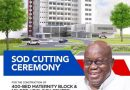 Akufo-Addo Cuts Sod For €145m 400-bed Maternity Block At Korle Bu