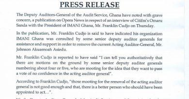 Deputy Auditors-General Rubbishes Plott Allegations Against Acting Auditor-General