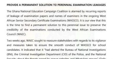 GNECC Urges WAEC, GES To Find Permanent Solutions To Exam Paper Leakages