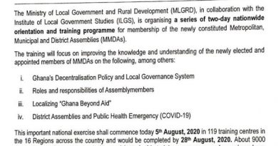 Ministry Of Local Gov't Begin Orientations & Training For 9000 Assembly Members