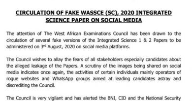 Stay Focused – WAEC To WASSCE Candidates After 'Leaked' Fake Science Questions