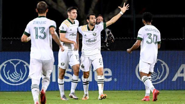 Timbers stun NYCFC, make final 4 of MLS is Back