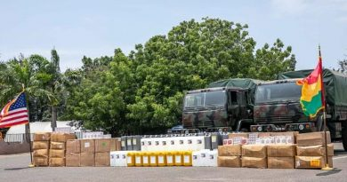 US, GAF Donate Critical Medical Supplies, PPE To Ashanti, Western Regional Hospitals