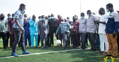 Akufo-Addo Plays Football As He Opens AstroTurf Facility For UPSA