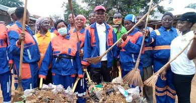 Asunafo South NASPA Cleans District Capital Kukuom