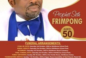 Funeral Rites For Late Prophet Seth Frimpong Announced