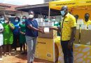 MTN Donates Face Masks To Kmasi South Hospital