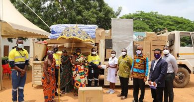 Newmont Ghana Akyem Mines Supports New Abirem Government Hospital With COVID-19 Supplies