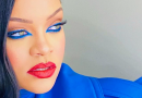 Rihanna Looks Incredible in This Electric Blue Makeup Look