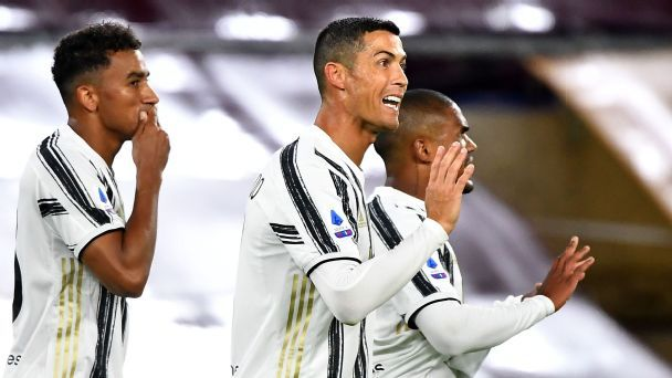 Ronaldo double helps Juve rally for Roma draw