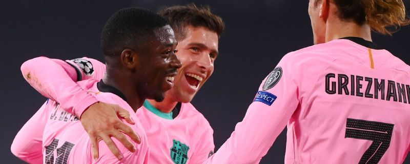 Barca down Juve with Messi, Dembele goals