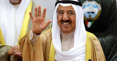 Condolence Message On The Death Of The Blessed Emir Of Kuwait