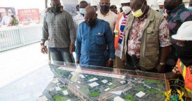 Obetsebi-Lamptey Interchange 92% Complete; Jamestown Fishing Harbour 15% Complete