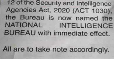 BNI Changes Name To National Intelligence Bureau