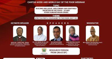 Coronavirus Pandemic Ushers In Humanitarian Innovations- Caritas Ghana Official
