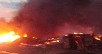 Fire Guts Cathedral Clinic And Laboratory In Accra