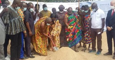 Sanitation Minister Cut Sod For 55,000 Water Capacity Supply Project
