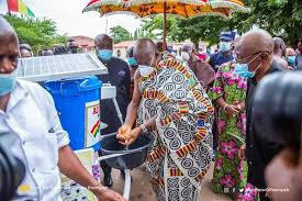 2020 Election: Asantehene votes at Manhyia