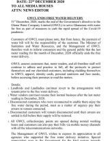 Free covid-19 water ends on December 31