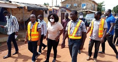 Ga East MCE pays working visit to construction sites within her municipality
