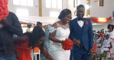 GBC Radio Central's sports presenter marries his long time girlfriend