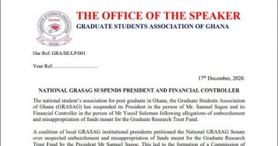 GRASAG suspends two Executives; Including its President and Financial Controller