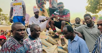 Hon. Joseph Kwasi Mensah presents 50 bags of cement to Dromankese
