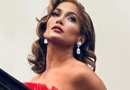 Jennifer Lopez Looks Stunning in This Red Tiered Christmas Eve Dress