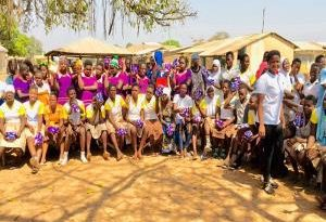 Menstrual hygiene campaign; Acheworon Foundation donate to young girls in Loggu
