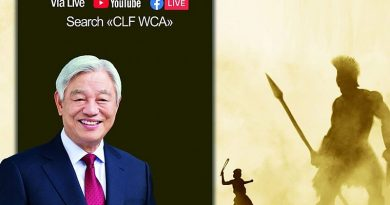 World Christian Leaders Fellowship conference opened from 2nd, to 5th December