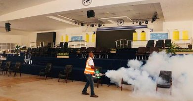 Zoomlion disinfects Pentecost Convention Center at Gomoa